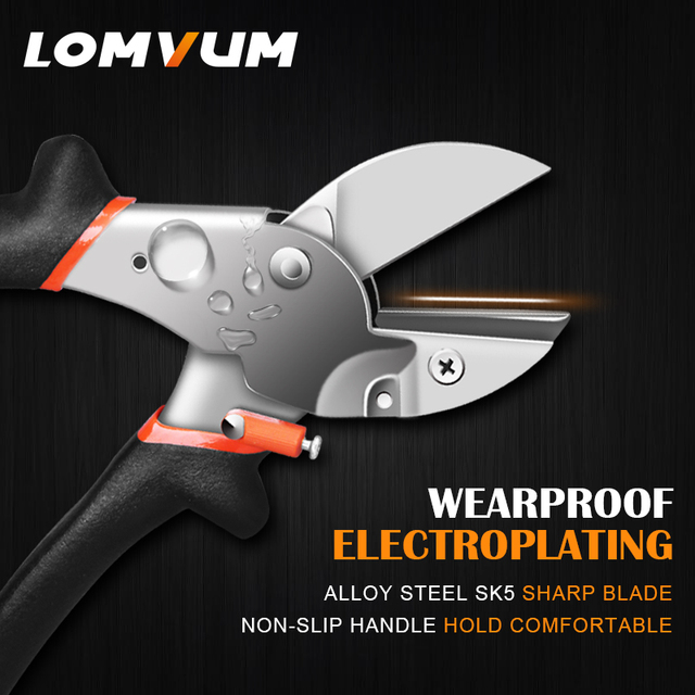 LOMVUM Garden Scissors Grafting Tool High Strength Alloy Pruning Shears Garden Shears Plant Secateurs Easy Pruning Tools