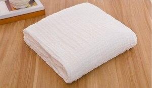 Image 3 - Manta de gasa de algodón arrugado de 6 capas, 100%, algodón, talla grande y color personalizado, manta de 142x228 cm, 100 piezas personalizadas