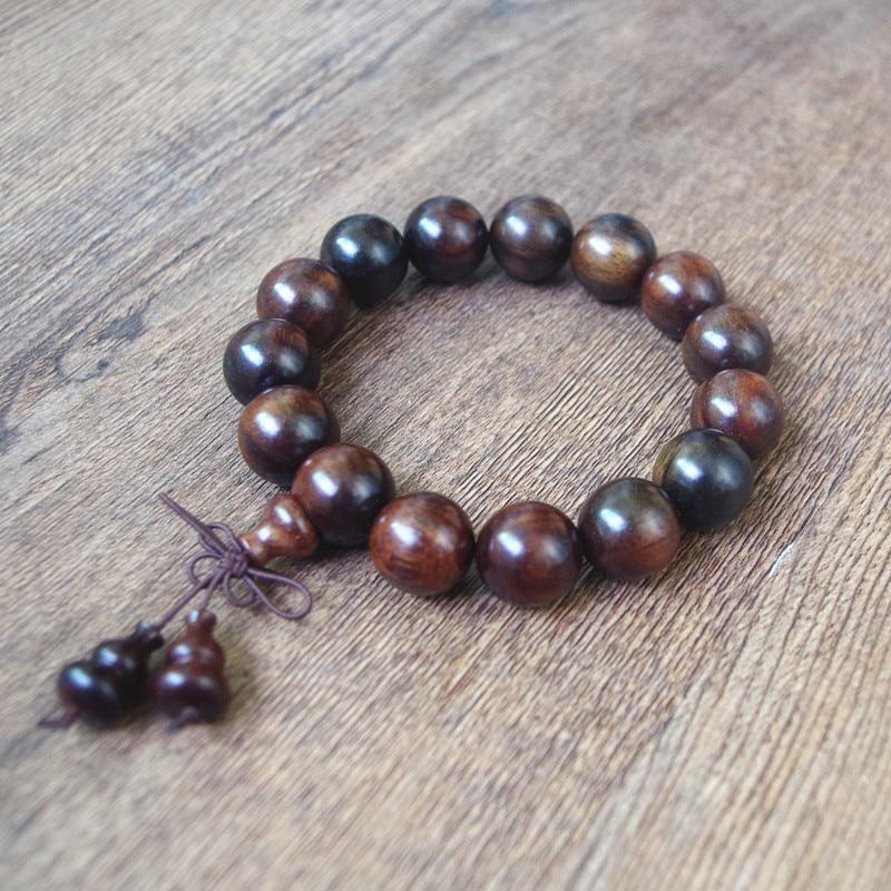 15 18 20 MM Red Sour Branches Buddha Bracelets Tibetan Buddha Prayer Mala Chakra Strand Bracelet Women Men Lucky Jewelry