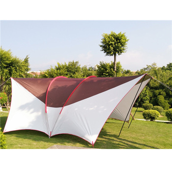 Full shading UV awning Outdoor ultra-high Habe big rain sunshade awning multi-person tent with wear-resistant UV large space