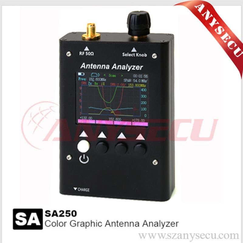 NUOVO SURECOM-HK SA-250 132-173/200-260/400-519 MHz Analizzatore di Antenna SA250 Colour Grafico analizador de antena