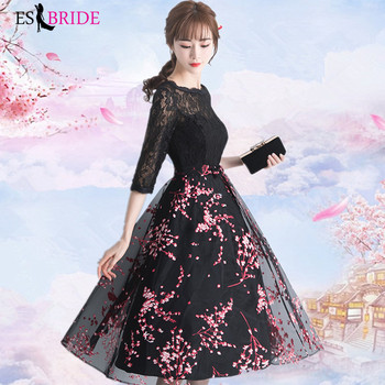 Black Vestidos De Fiesta De Noche Casual Pink Appliques Evening Dress Elegant Robe De Soiree Evening Dresses Evening Gown ES2000 1