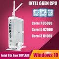 Intel core i7 skylake 6500u win 10 mini pc mini pc i7 intel hd graphics 520 4 k caixa de tv janelas core i5 barebone minipc Linux