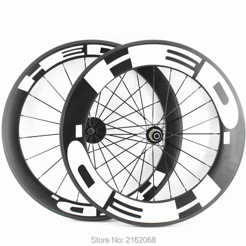 Nouveau 700C avant 60mm + arrière 88mm pneu jante vélo de Route mat UD pleine fiber de carbone vélo essieux 20.5/23/25mm largeur bateau Libre
