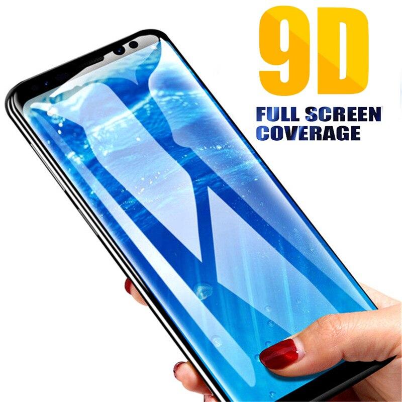 9D colle verre de protection sur le pour samsung galaxy a6 plus 2018 6a a 6 a6plus a62018 tremp verre trempé protecteur d'écran galax