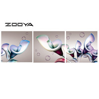 ZOOYA DIY Full Diamond Embroidery Painting Cross Stitch Pictures By Numbers Triptych Paintings Flowers Blisters Home