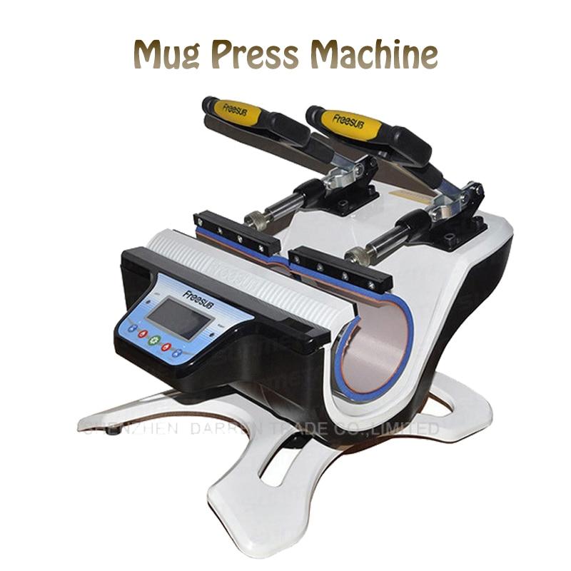 Mini Double-Station Mug Press Machine Mug Heat Press Machine Mug Sublimation Transfer Machine ST-210 1 pcs 38 38cm small heat press machine hp230a