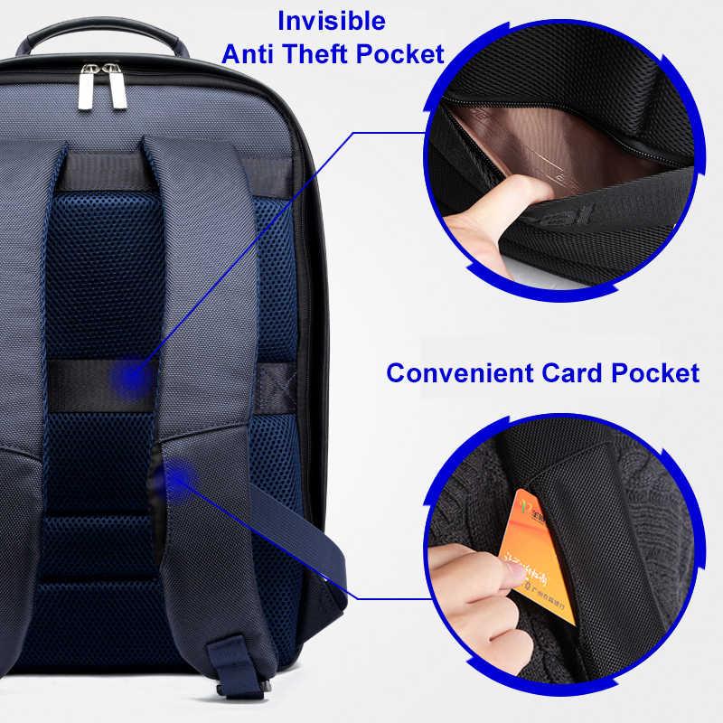 BOPAI USB תשלום תרמיל גברים עור עבור Travelling אופנה מגניב בית ספר תרמיל שקיות לבנים אנטי גניבה מחשב נייד תרמיל 2018