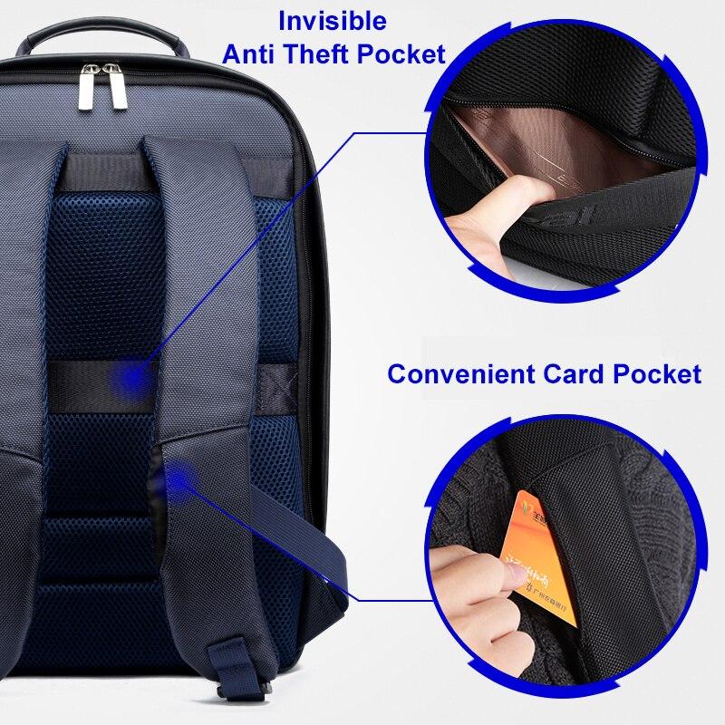 US $68.88 50% OFF BOPAI plecak z ładowarką USB mężczyźni skóra dla podróżujących moda fajne torby szkolne plecak dla chłopców z zabezpieczeniem