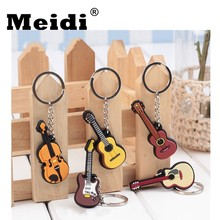 Guitar Ukulele Keychain Keyring Plastic Musical Instrument Key Chains Keyholder Pendant for Women Men Bag Car Gift 2018 Hot Sale(China)