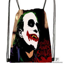Custom Joker-batman-arkham@2 Drawstring Backpack Bag Cute Daypack Kids Satchel (Black Back) 31x40cm#2018612-01-(13)