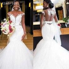 superkimjo Mermaid Wedding Dresses 2019 Cap Sleeve