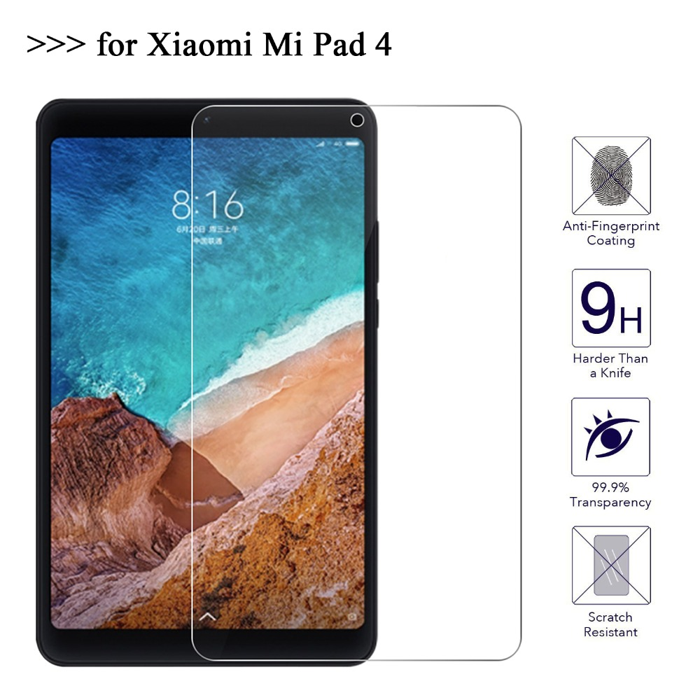 For Xiaomi Mi Pad 4 Screen Protector Glass 9H Tempered Glass For Xiaomi MiPad 4 Tablet 8 Protective Film tempered glass screen protector for xiaomi mi mix transparent