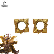ROLECOS LOL KDA Cosplay Wristband KDA Prestige Edition Ahri Golden Wristband for Women Cosplay Accessories K/DA Ahri Wristband(China)