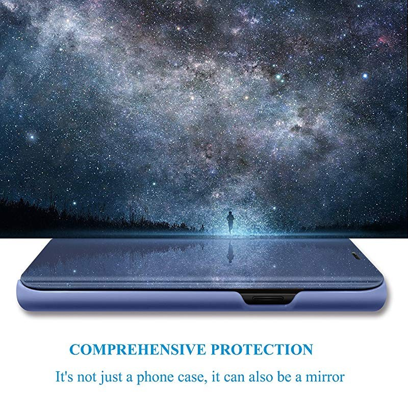 Smart case untuk xiaomi redmi note 4 redmi 4x case mirror view pu - Aksesori dan suku cadang ponsel - Foto 2