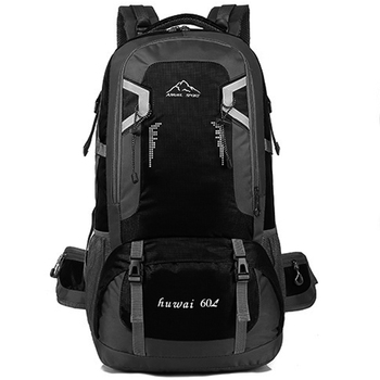 60L waterproof unisex men backpack travel pack sports bag pack Outdoor Climbing Mountaineering Hiking Camping backpack for male 1