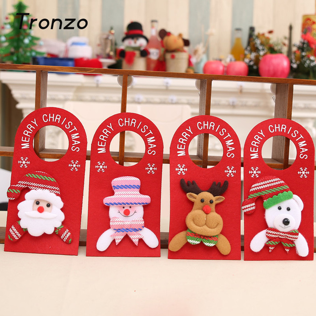 Tronzo Santa Claus Snowman Reindeer Christmas Doorplate Lovely Christmas Decorations for Home Xmas Door Ornaments & Tronzo Santa Claus Snowman Reindeer Christmas Doorplate Lovely ...