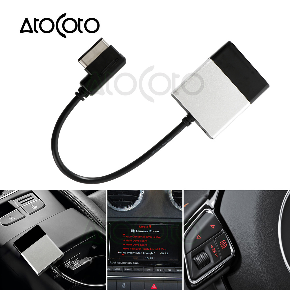 Car Bluetooth Module For Audi Vw Radio Stereo Aux Cable: Bluetooth Car Kit For VW MDI Music Receiver Airdual Module