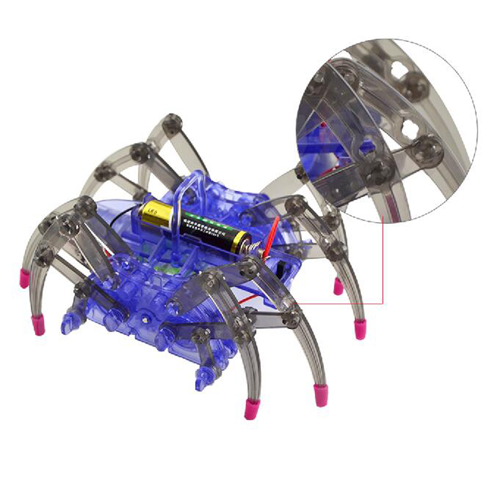 Diy Kids Assemble Intelligent Electric Spider Robot Puzzle Toy Arts & Crafts, Diy Toys