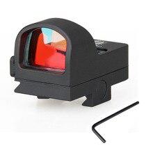 Nueva Llegada Tactical Mini Red Dot Rifle Scope Sight Point CL2-0078 Ampliación 1X Para La Caza