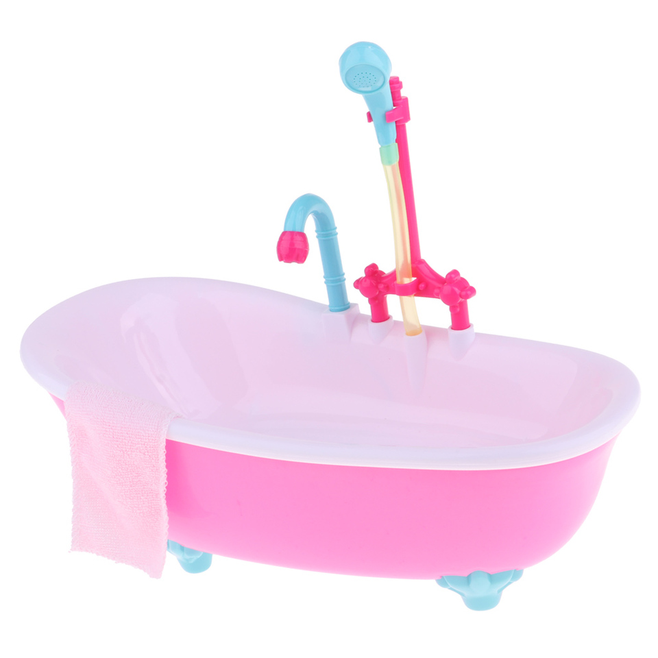 1//6 Dollhouse Miniatures Electric Bathtub Furniture Kids Pretend /_ SU
