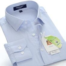 4XL 5XL 6XL 7XL 8XL большой размер мужская деловая Повседневная рубашка с длинными рукавами Осень Новая модная полосатая профессиональная Свободная рубашка