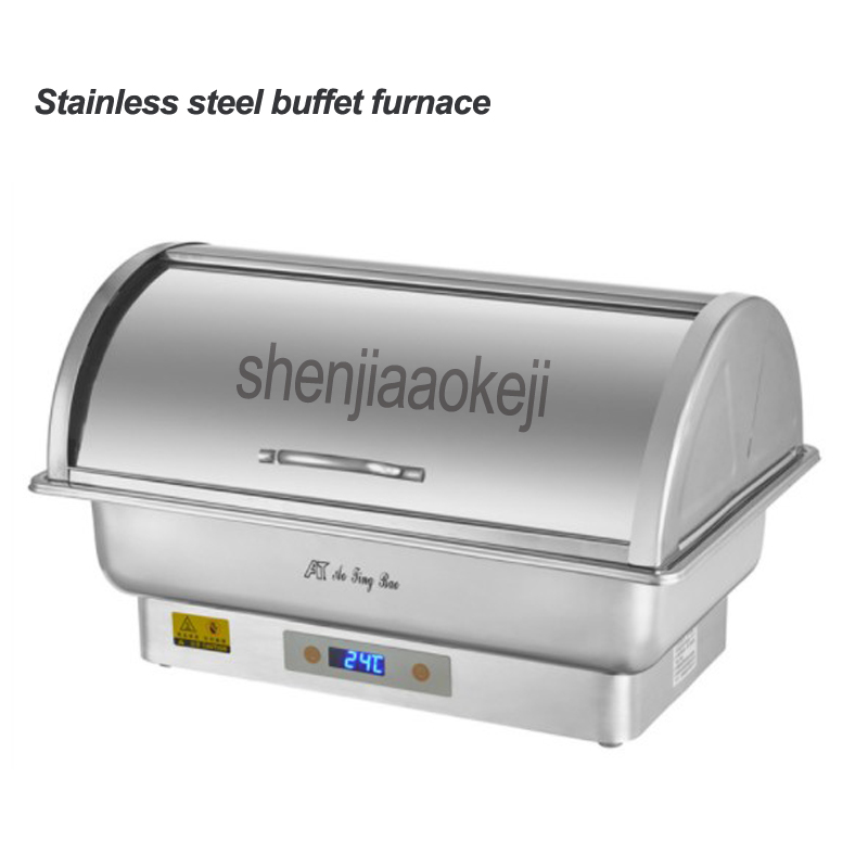 Stainless steel buffet furnace Electric heating holding furnace Restaurant Hotel Cafeteria Insulation Stove 220/110v 350w 1pcStainless steel buffet furnace Electric heating holding furnace Restaurant Hotel Cafeteria Insulation Stove 220/110v 350w 1pc