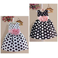 Nova menina Da Criança Do Bebê Dot Impressão Vestido de Princesa Do Bebê Da Menina de Flor Vestido de Festa Sem Mangas Dot Vestido de Fantasia Vestidos de Verão Vestido de Verão
