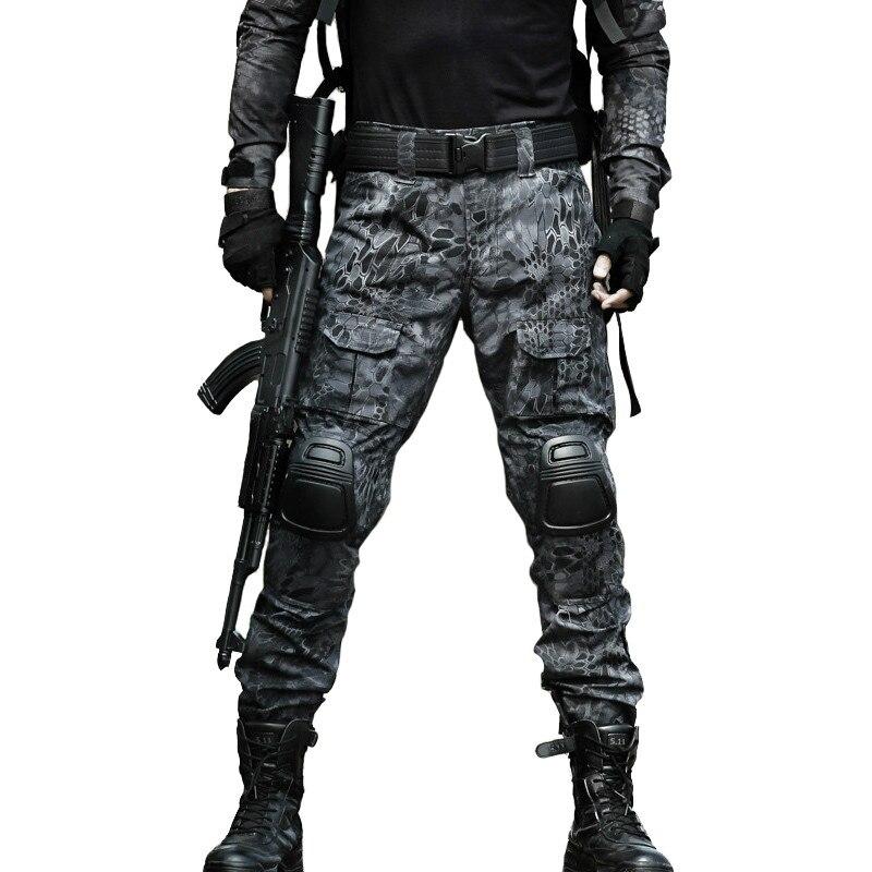 zuoxiangru Hommes Multicam Tactique Pantalon Multi-Poches Militaire Camo Ext/érieur Airsoft Combat Pantalon de Chasse avec genouill/ères