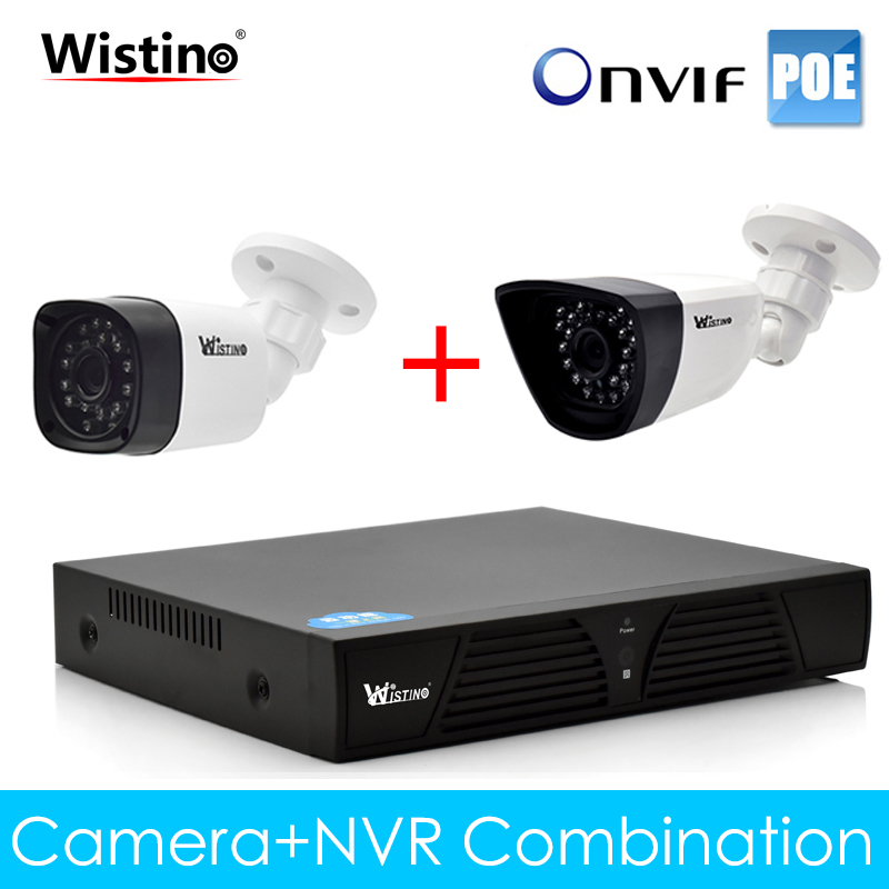 Wistino CCTV PoE IP Camera XMeye Surveillance NVR Kits 720P 960P 1080P Outdoor Security System Video Monitor Onvif Night Vision