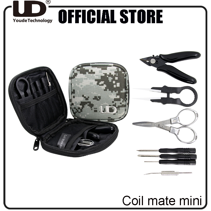 100% Authentic UD Coil Mate mini DIY tool kit Carry Bag Vape Accessories with Cotton Hook Ceramic Tweezer Screwdriver приспособление для настройки атомайзеров с жаропрочными губками vape tweezer