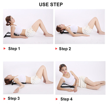 Back Massage Waist Neck Fitness Equipment Spine Stretch Relax Lumbar Support Stretcher Mate Pain Relief Chiropractic Health Care