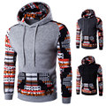 Digital Plaid Fashion Fleece Hoody Mens Sweatshirts Slim fit Casual Hoodies Mens Hip hop Men Tracksuit Long sleeves Streetwear