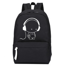Новое поступление 2017 года Оксфорд музыка мальчик печати рюкзак плечи мешок Ночная удваивает Повседневное Школьные сумки Обувь для мальчиков школьного рюкзака