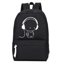 2017 New Arrival Oxford Music Boy Printing Backpack Shoulders Bag Nightlight Doubles Casual School Bags Boys School Backpack