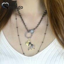 цены на Pop Charms,Fashion Jewelry, The Fish Shape Cubic Zirconia Pendant Necklace,4Colors, Necklace Women, 5pcs в интернет-магазинах