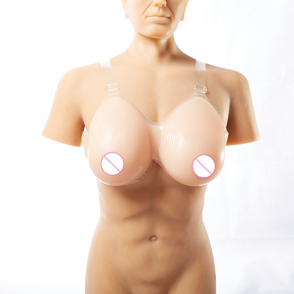1pcs Wearable Fake Silicone Breast Form Breasts Bust Enhancer Fake Boobs For Cosplay Women Chest Wearing