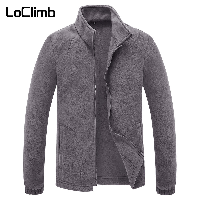 LoClimb Men's Winter Polar Fleece Jacket Men Outdoor Camping Tourism Coat Mountain Climbing Trekking Ski Hiking Jackets AM132