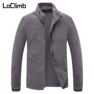 Image 1 - LoClimb Chaqueta Polar de invierno para hombre, abrigo para turismo, montaña, escalada, esquí, senderismo, AM132
