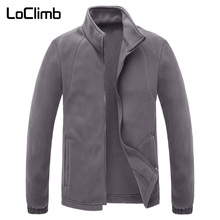 LoClimb גברים של חורף פליס מעיל גברים חיצוני קמפינג תיירות מעיל טיפוס הרים טרקים סקי טיולים מעילי AM132