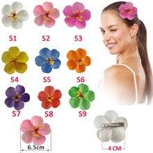 2 pcs 6.5cm new Fashion  Foam Hawaiian Cherry blossoms Plumeria flower hairpin Frangipani Flower bridal hair clip
