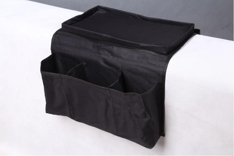 Home Storage & Organization Novelty Household Sofa Couch Remote Control Holder Arm Rest Organizer Storage Bag 4 Pocket Sundries Zakka Storage Pouch