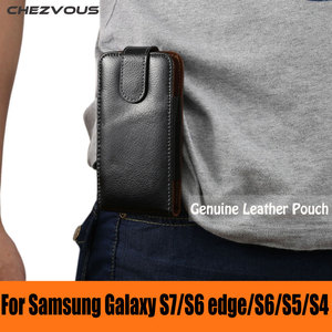 Sale Genuine Leather Carry Belt Clip Pouch Waist Pack Case Cover For Samsung Galaxy S7/S6edge/S6/S5/S4 Magnet Holster For Men Fashion