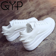 GYP 2018 women shoes wings high quality white black female platform increased shoes brand walking sneakers basket femme YC-430