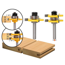 цена на 2pc 8mm Shank Milling Cutter Tongue & Groove Joint Assembly Router Bit Set 3 Teeth T-type 8 Handle Wood Cutting Tool Woodworking