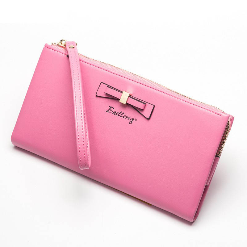 new long wallet card phone pocket women candy color top leather wallet female coin purse ladies clutch bag with wrist strap W114 danjue leather ladies wallet 11 card slot women purse trendy clutch long money bag buckle 13 candy color women wallets