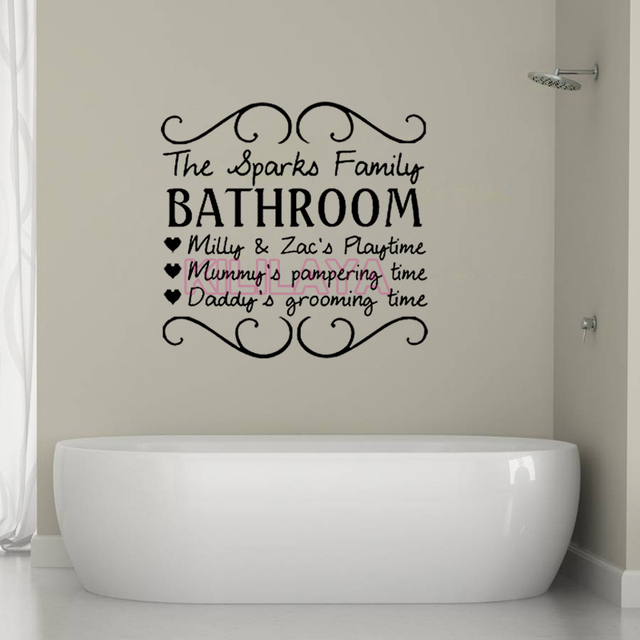 Vinyl Wall Stickers For Kids Bathroom The Sparks Family Mural Decal Diy Sticker Home