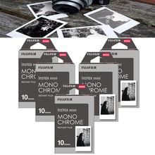 Nouveau Fujifilm Instax Mini 8 Film Monochrome 50pcs pour Mini 300 7s 7 50s 50i 90 25 partager SP 1 SP 2 Photo instantanée papier appareil Photo