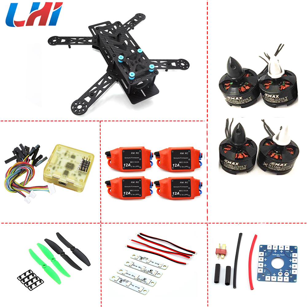 Fpv Carbon Fiber Mini Qav250 C250 280 Quadcopter Emax 1806 Brushless Motor And Simonk12a Esc Flight Control Prop Special Offer