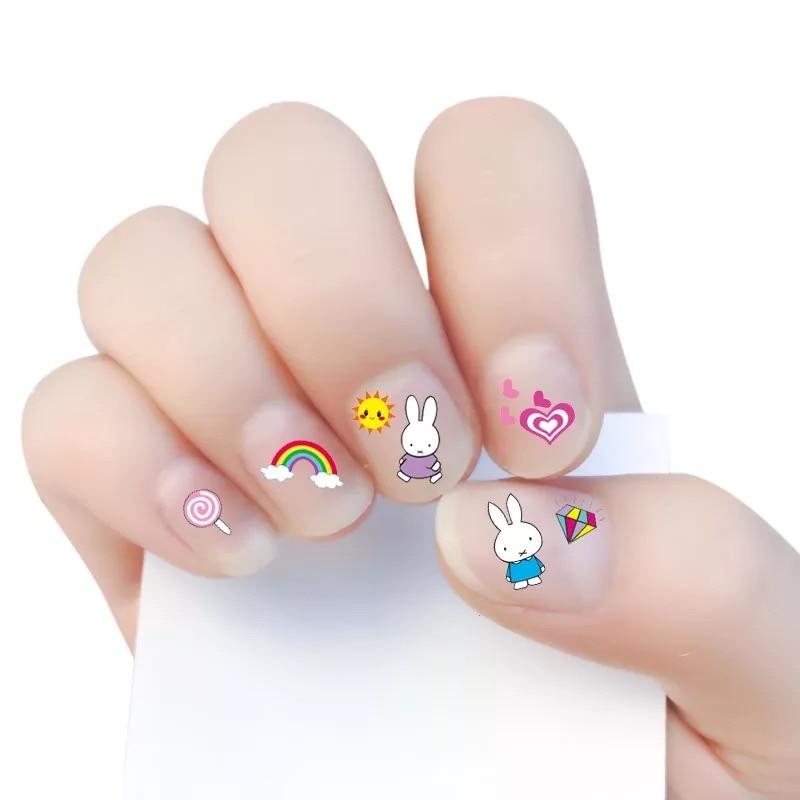 2017 New arrive korea Waterproof 3D Nails Sticker cute rabbit 6 ...